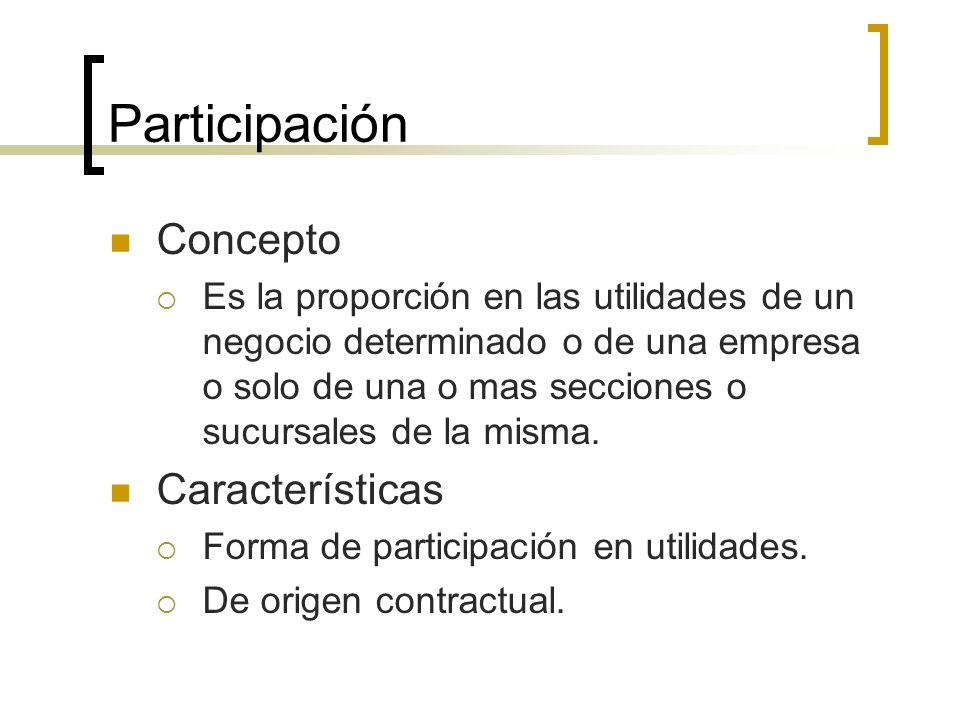 Participación Concepto Características