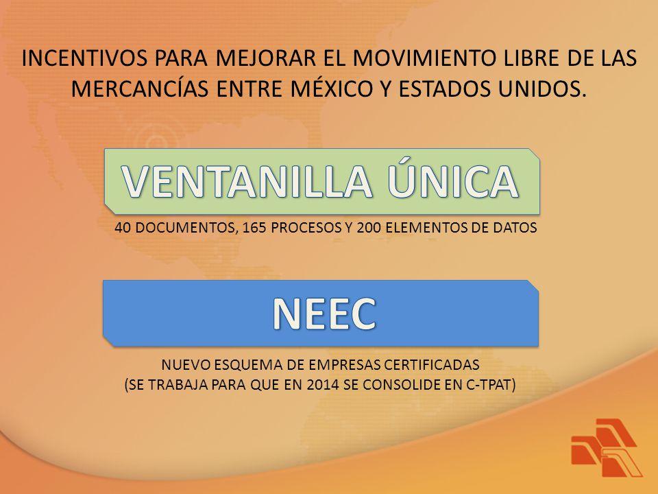 INCENTIVOS PARA MEJORAR EL MOVIMIENTO LIBRE DE LAS MERCANCÍAS ENTRE MÉXICO Y ESTADOS UNIDOS.