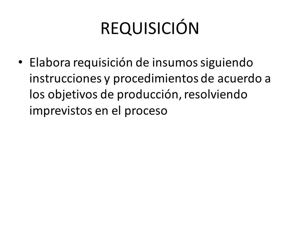 REQUISICIÓN
