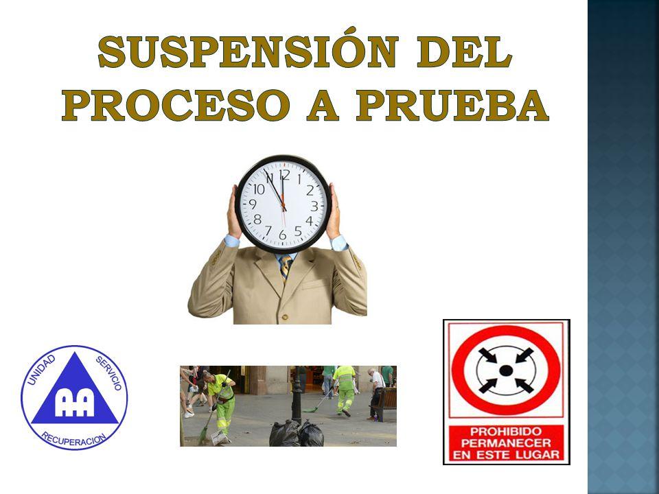 SUSPENSIÓN DEL PROCESO A PRUEBA