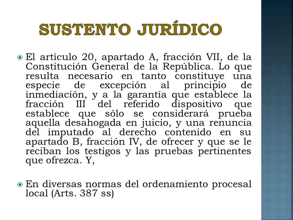 SUSTENTO JURÍDICO