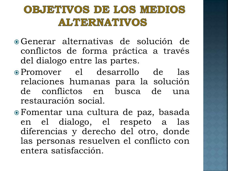 Objetivos de los medios Alternativos