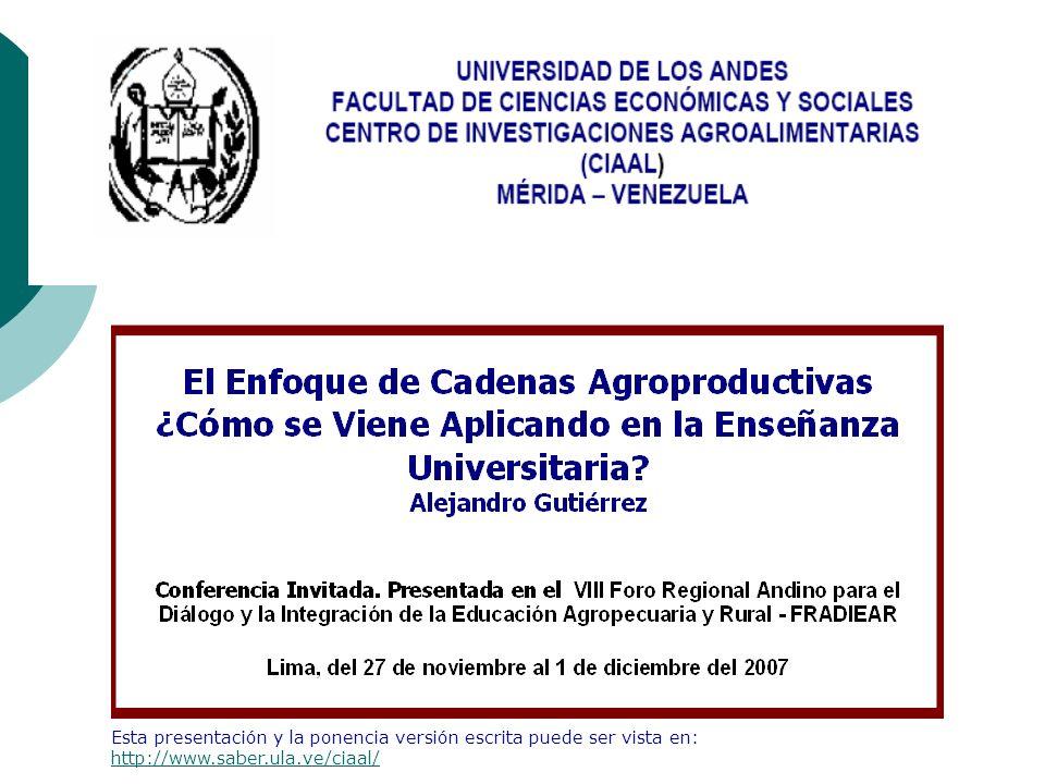 Esta presentación y la ponencia versión escrita puede ser vista en: