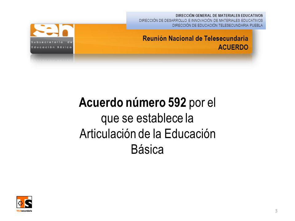 DIRECCIÓN GENERAL DE MATERIALES EDUCATIVOS