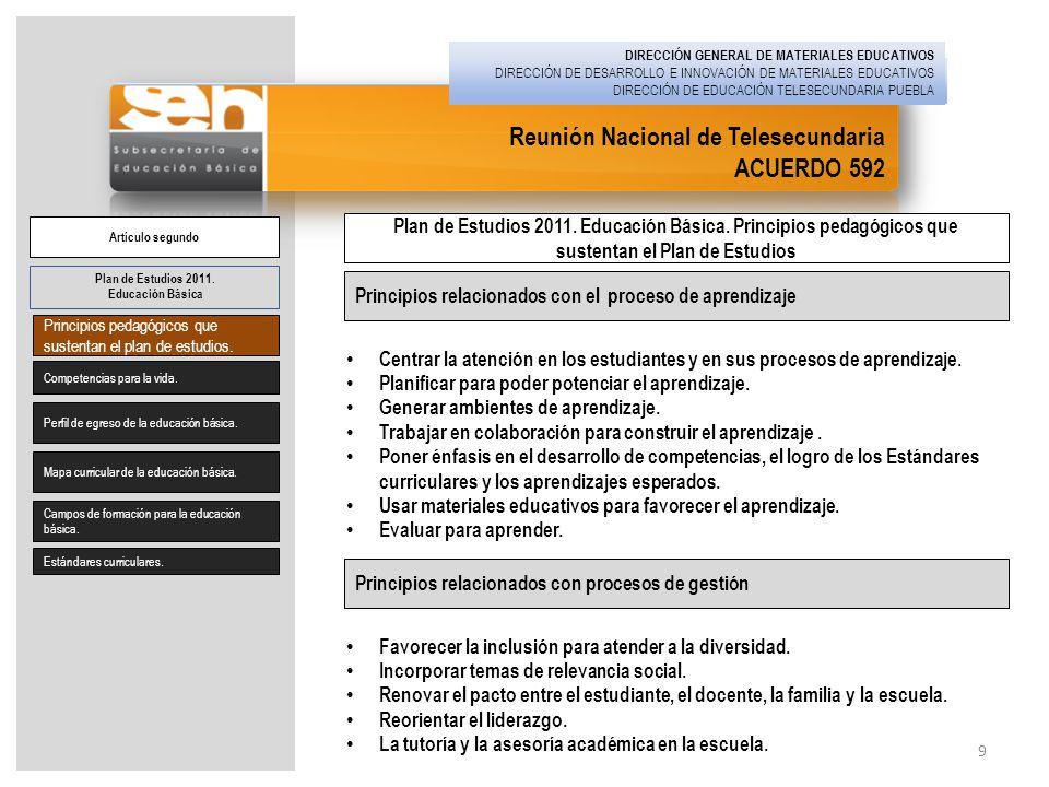 Reunión Nacional de Telesecundaria ACUERDO 592