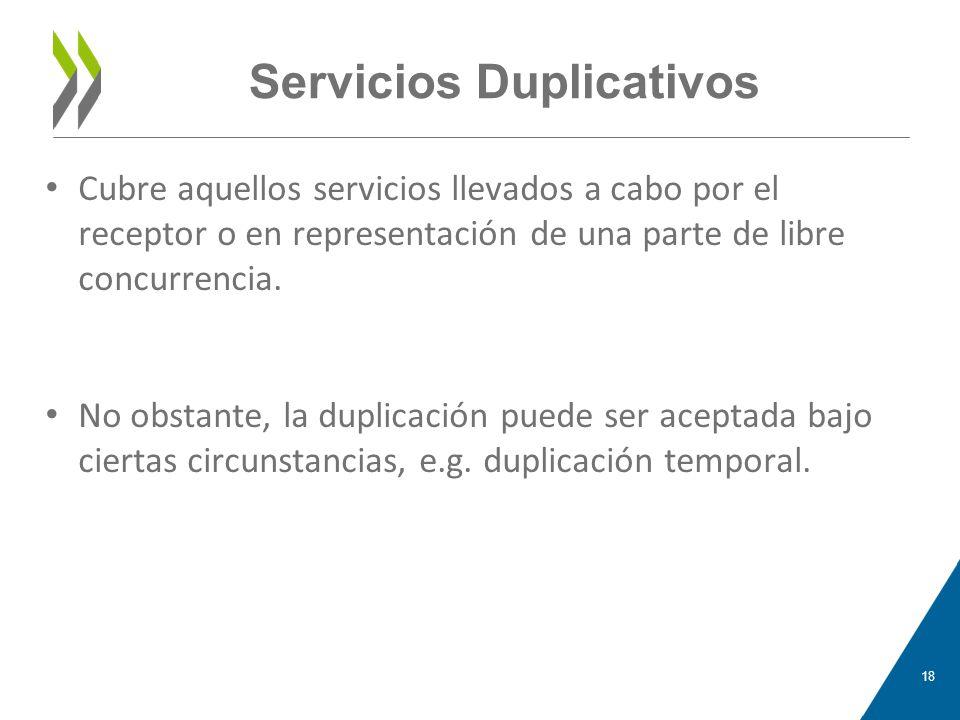Servicios Duplicativos
