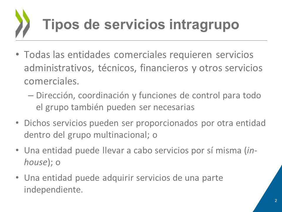Tipos de servicios intragrupo