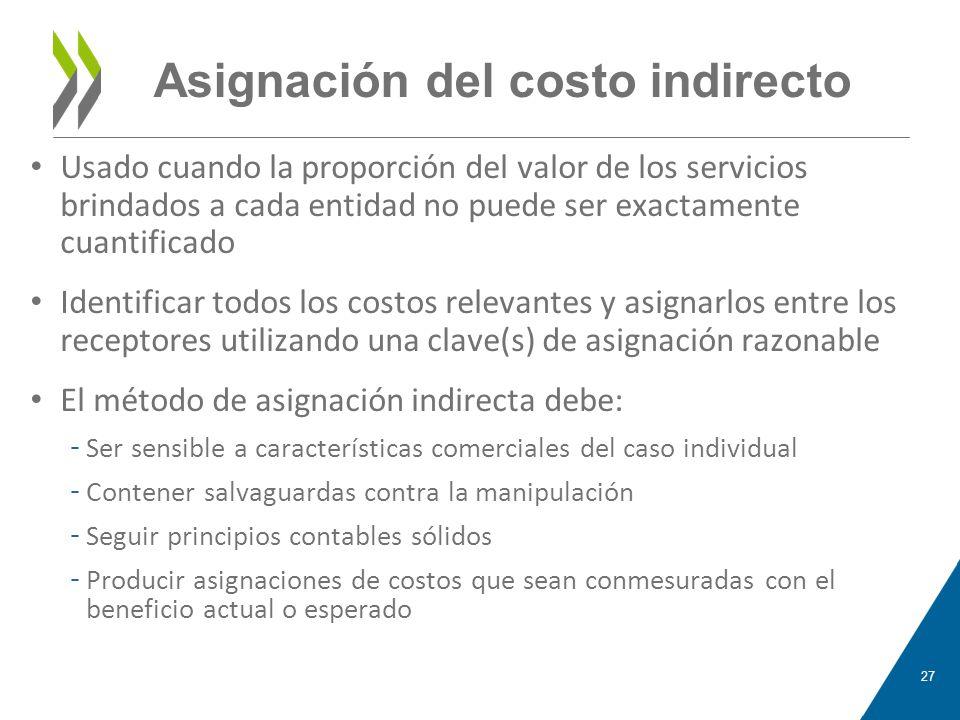 Asignación del costo indirecto