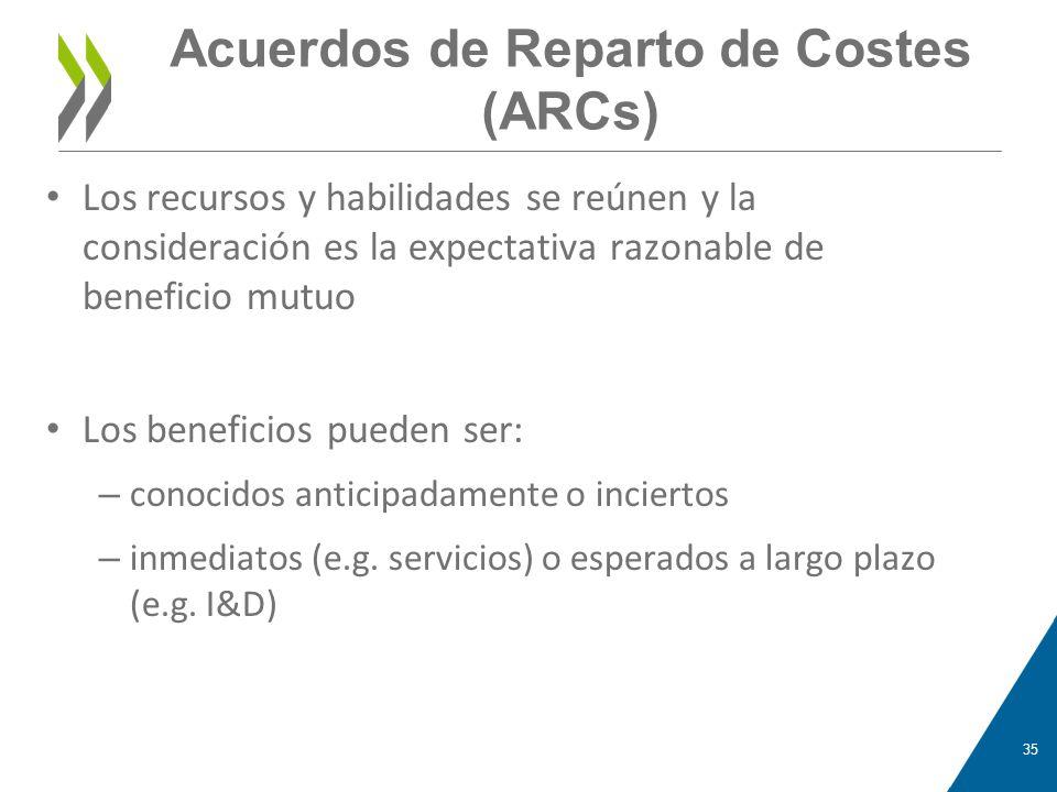 Acuerdos de Reparto de Costes (ARCs)