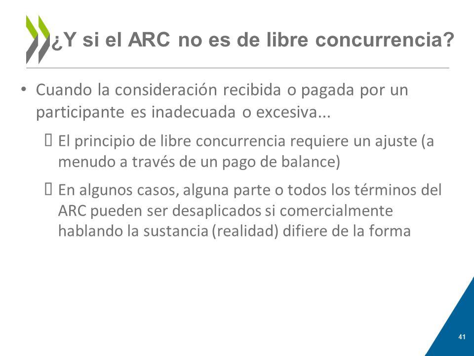 ¿Y si el ARC no es de libre concurrencia