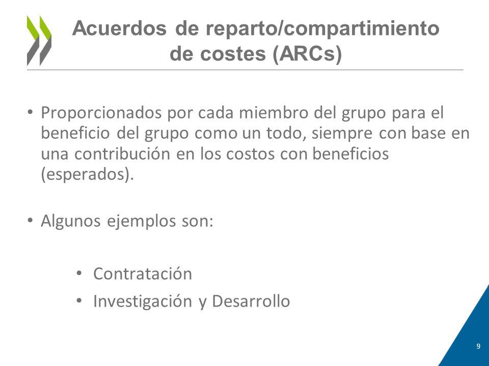 Acuerdos de reparto/compartimiento de costes (ARCs)