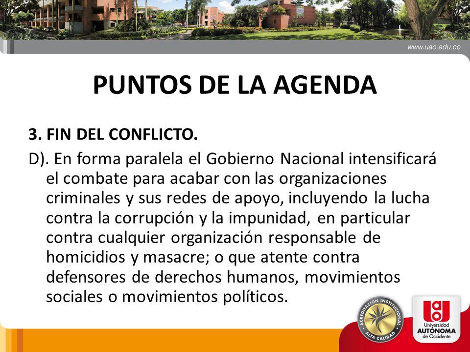 PUNTOS DE LA AGENDA