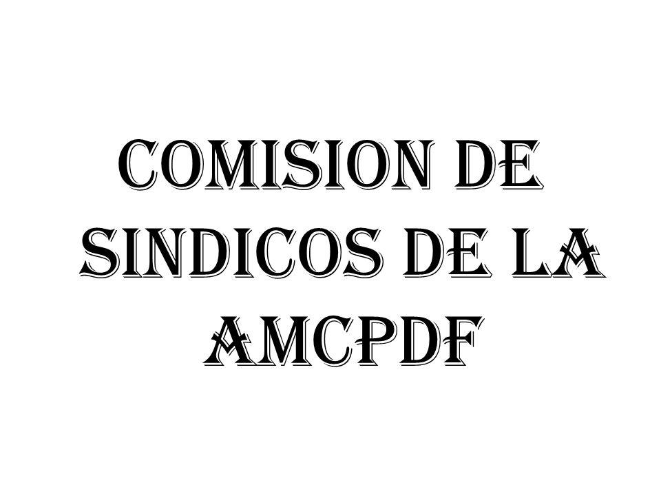 COMISION DE SINDICOS DE LA AMCPDF