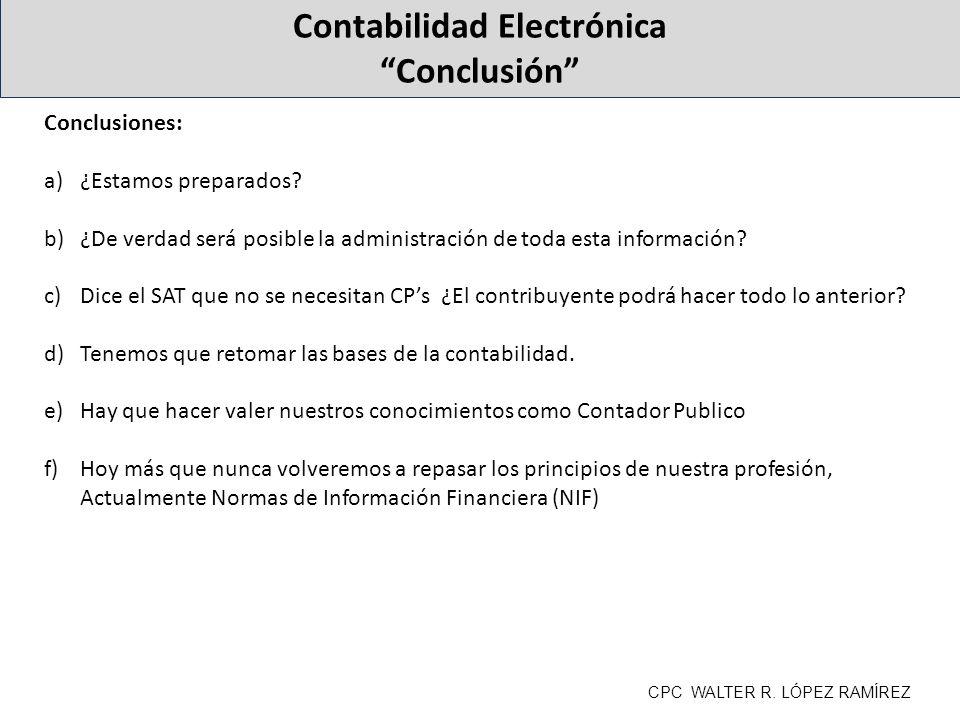 Contabilidad Electrónica Conclusión