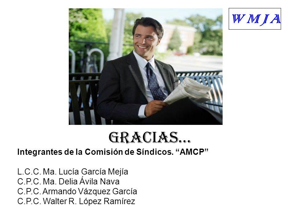 WMJA GRACIAS… Integrantes de la Comisión de Síndicos. AMCP