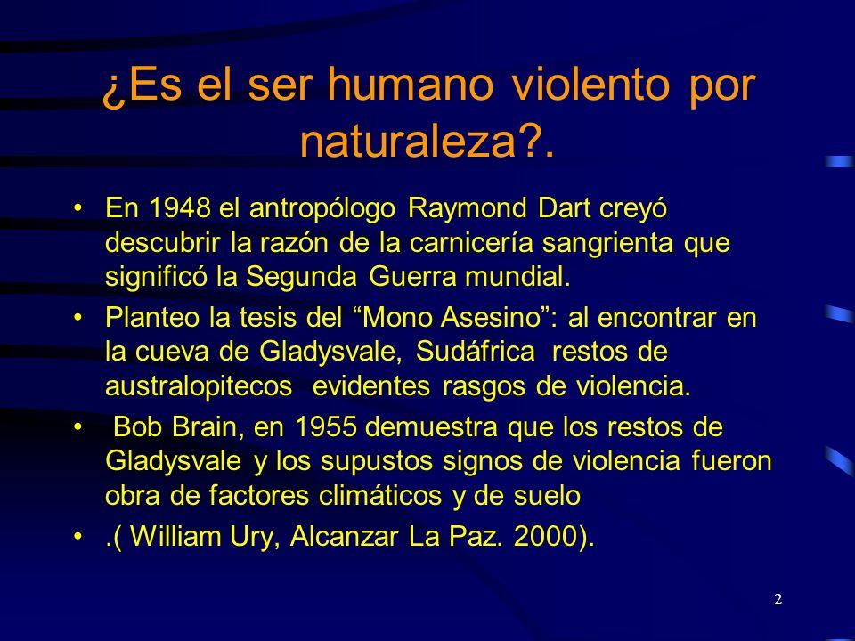 ¿Es el ser humano violento por naturaleza .