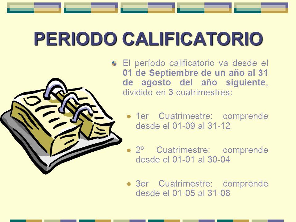 PERIODO CALIFICATORIO
