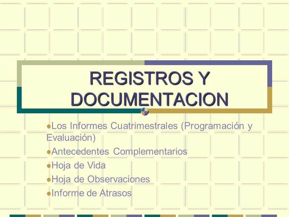 REGISTROS Y DOCUMENTACION