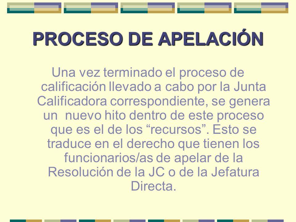 PROCESO DE APELACIÓN