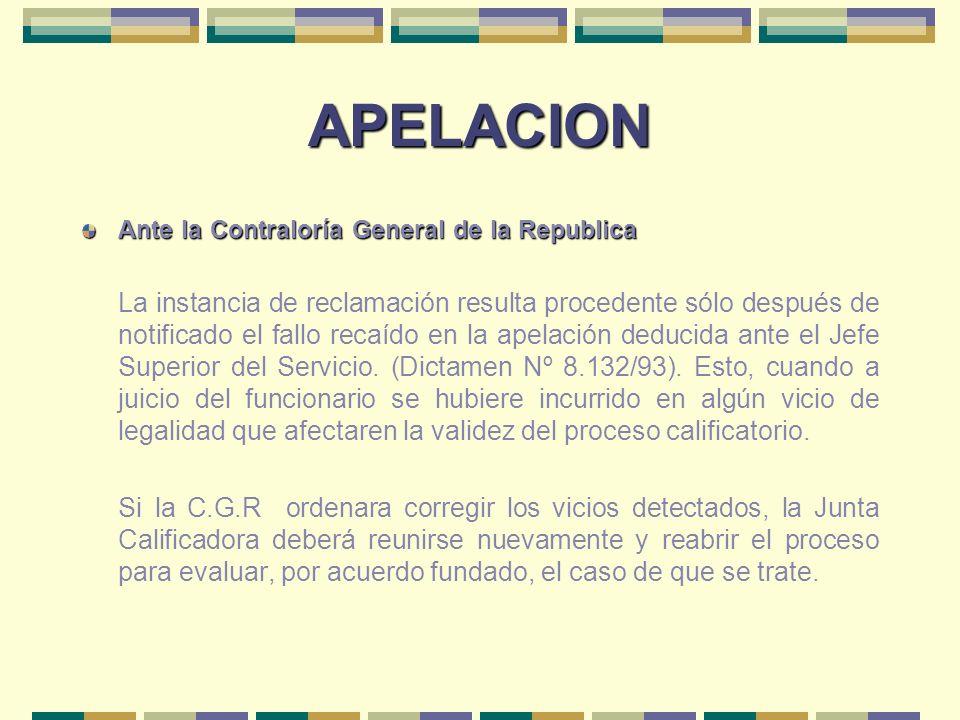 APELACIONAnte la Contraloría General de la Republica.