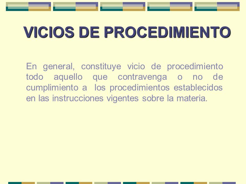 VICIOS DE PROCEDIMIENTO