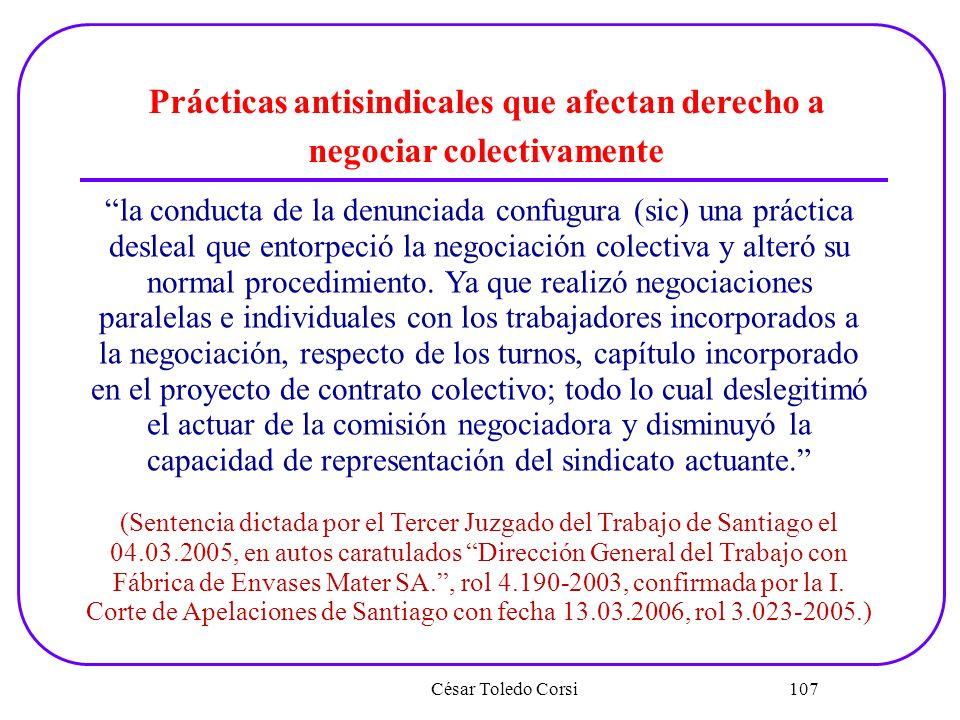 Prácticas antisindicales que afectan derecho a negociar colectivamente
