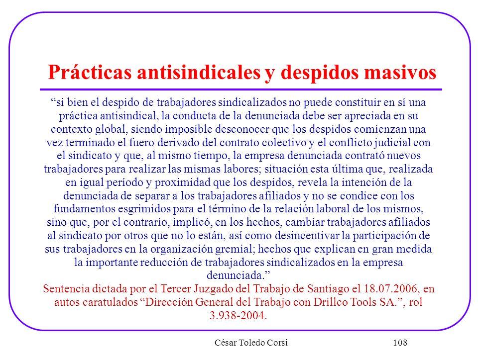 Prácticas antisindicales y despidos masivos