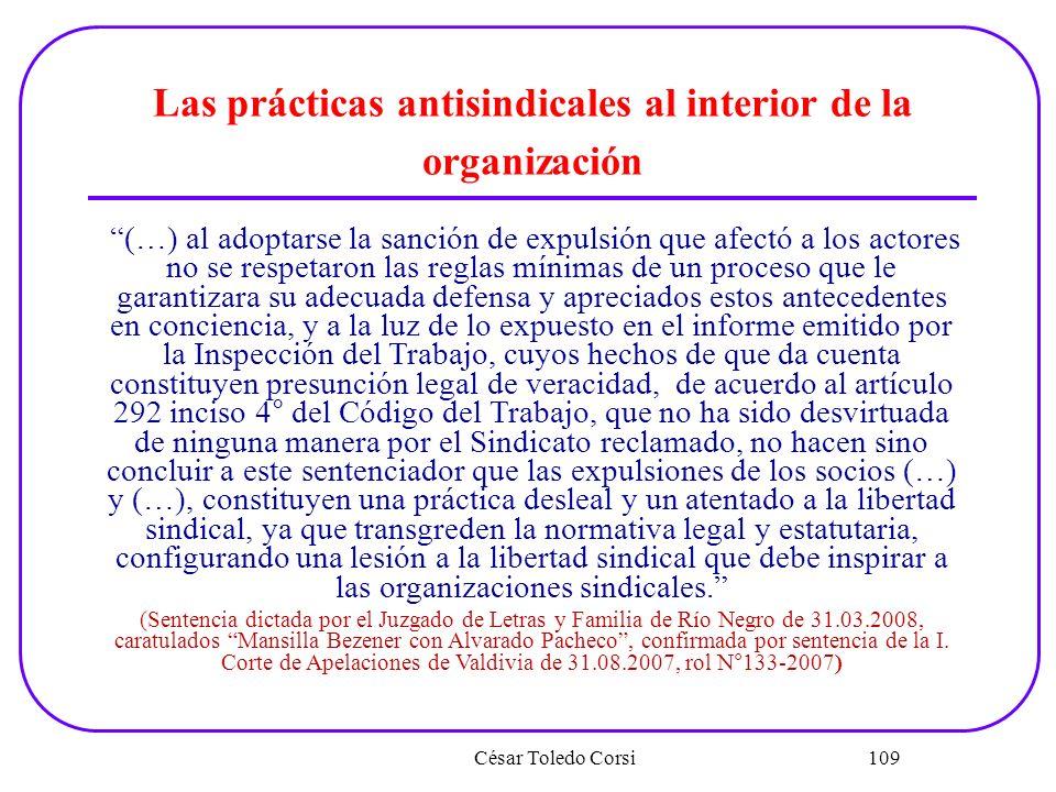 Las prácticas antisindicales al interior de la organización