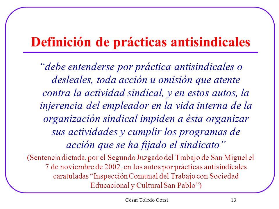 Definición de prácticas antisindicales