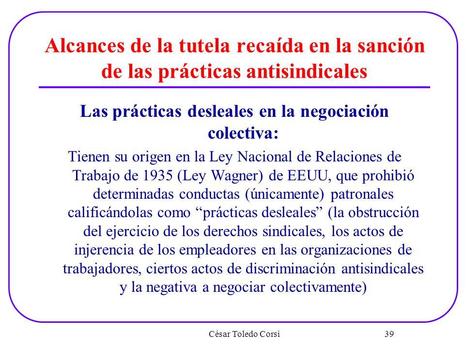 Las prácticas desleales en la negociación colectiva: