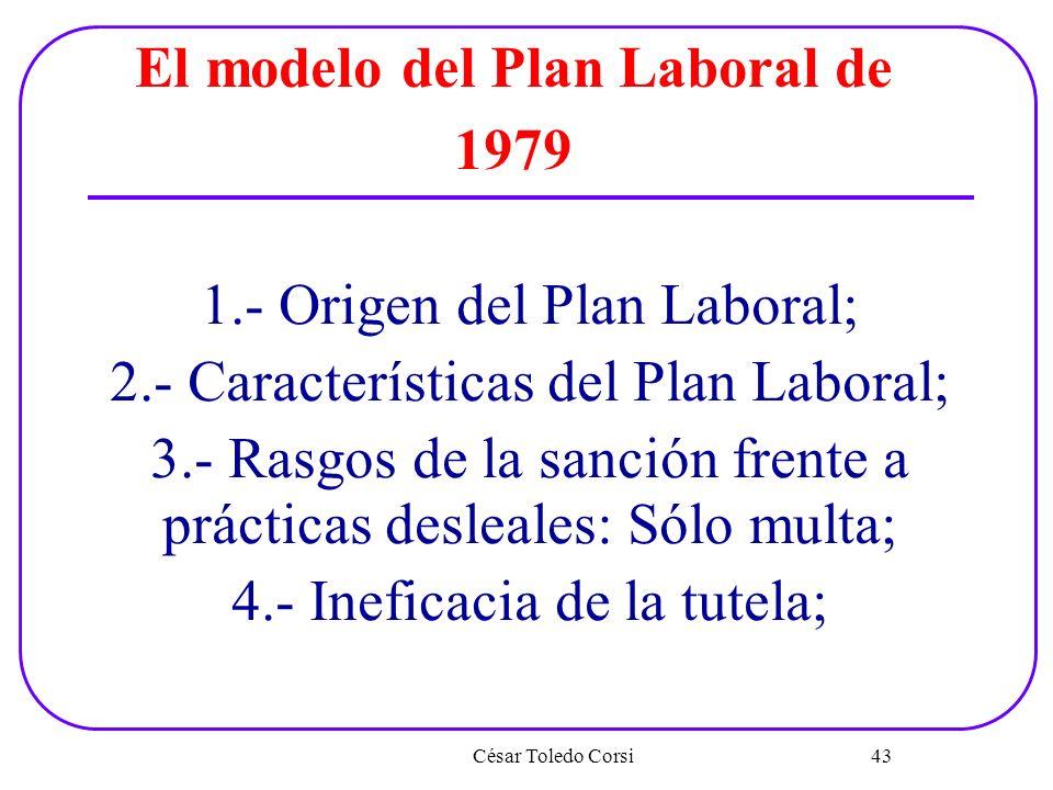 El modelo del Plan Laboral de 1979