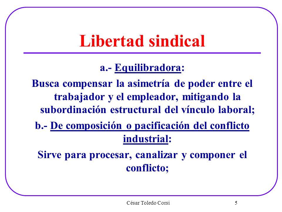 Libertad sindical a.- Equilibradora: