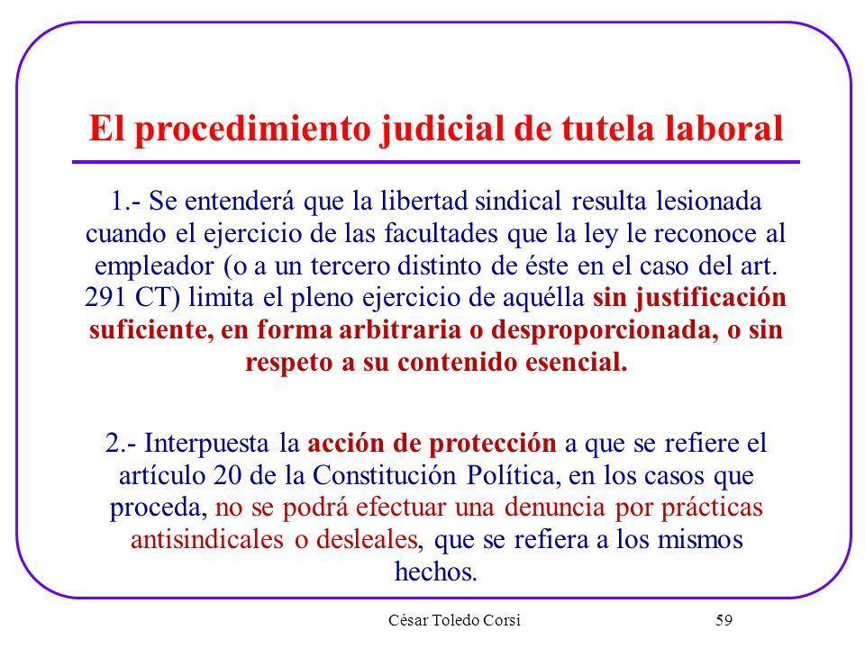 El procedimiento judicial de tutela laboral