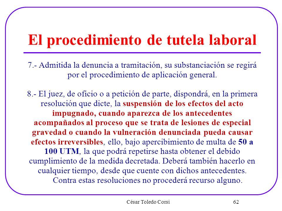 El procedimiento de tutela laboral