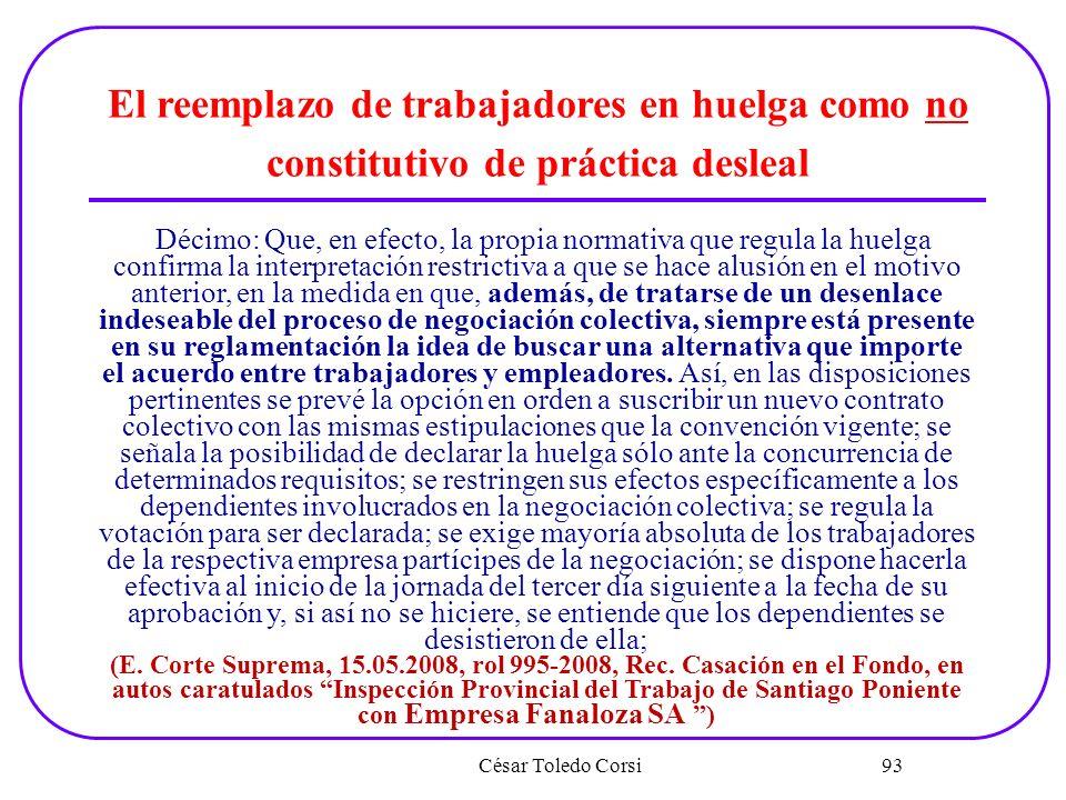 El reemplazo de trabajadores en huelga como no constitutivo de práctica desleal