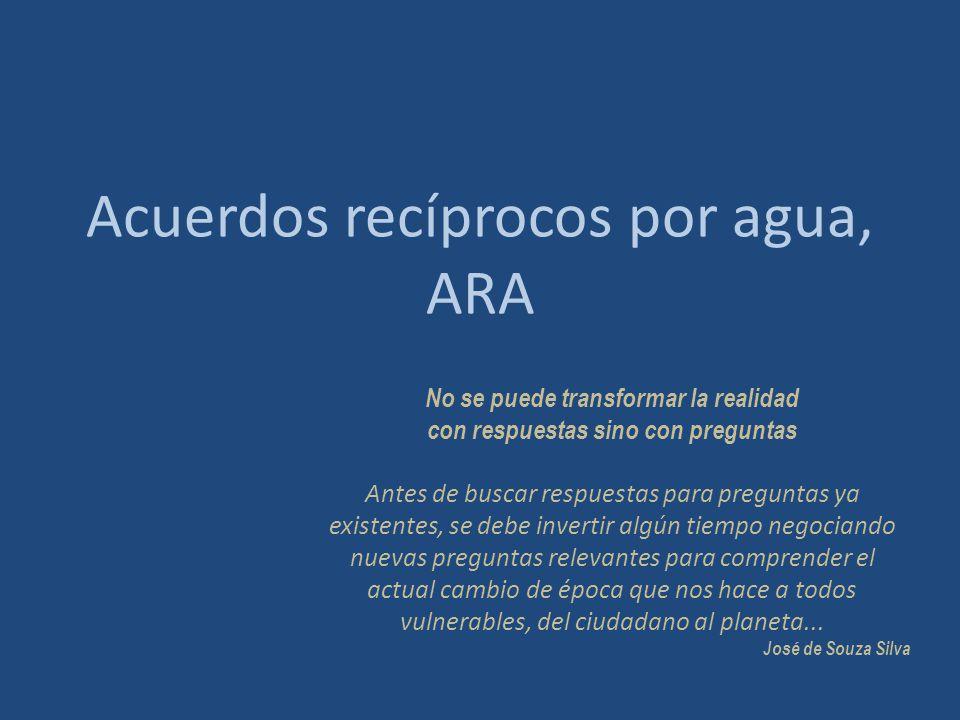Acuerdos recíprocos por agua, ARA