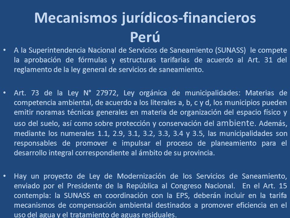 Mecanismos jurídicos-financieros Perú
