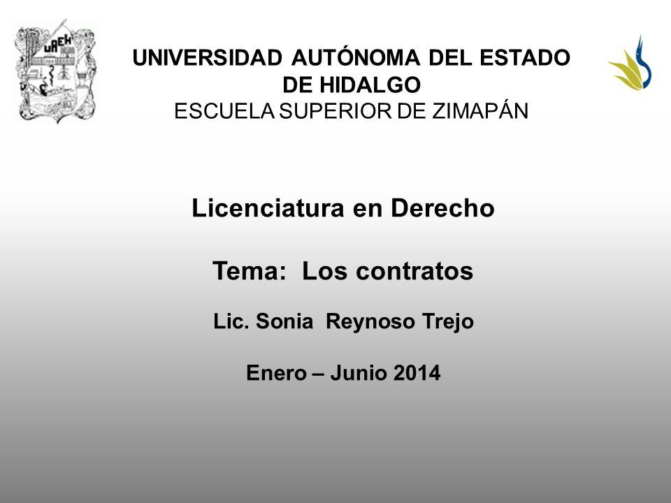 Licenciatura en Derecho Tema: Los contratos