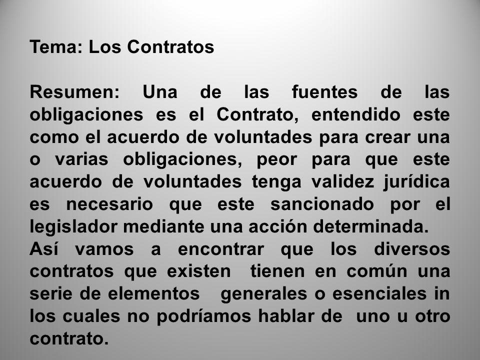 Tema: Los Contratos