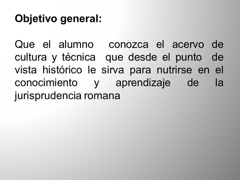 Objetivo general: