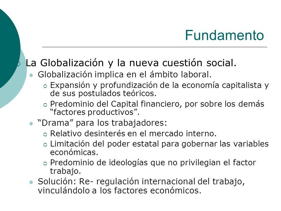 Fundamento La Globalización y la nueva cuestión social.