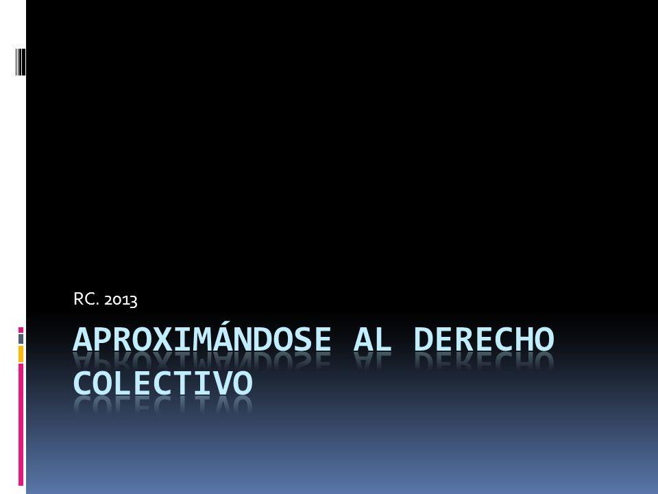APROXIMÁNDOSE AL DERECHO COLECTIVO