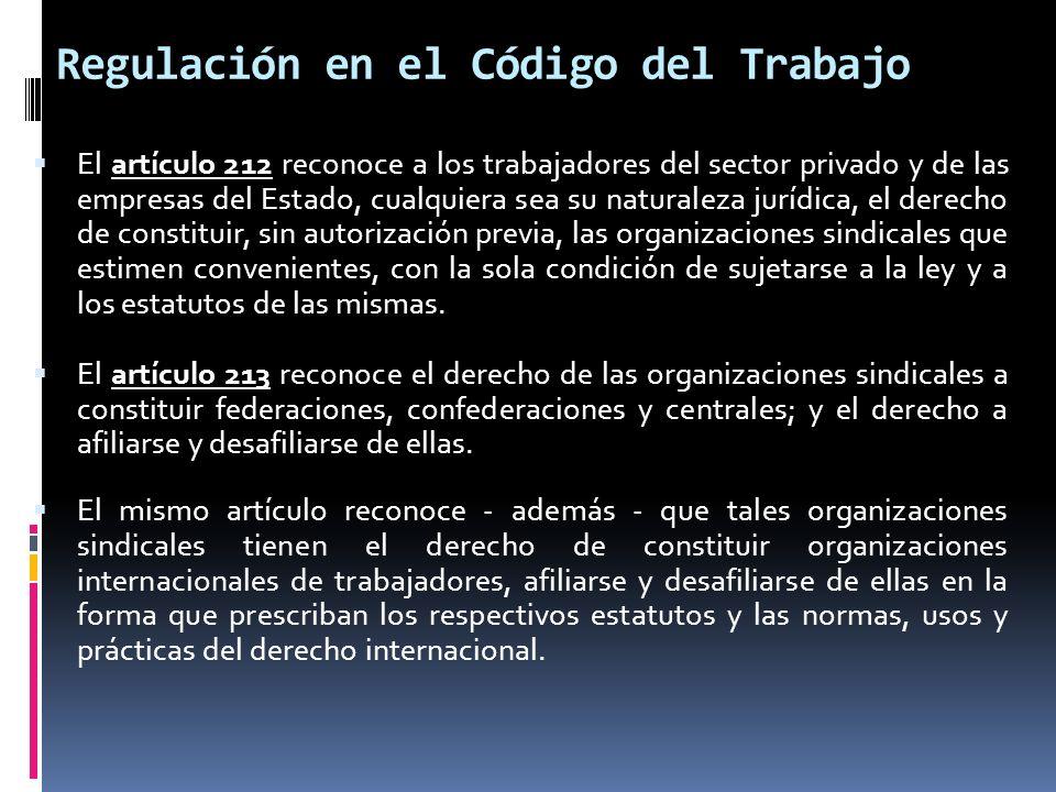 Regulación en el Código del Trabajo