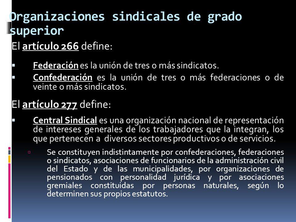 Organizaciones sindicales de grado superior