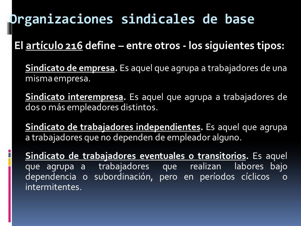 Organizaciones sindicales de base