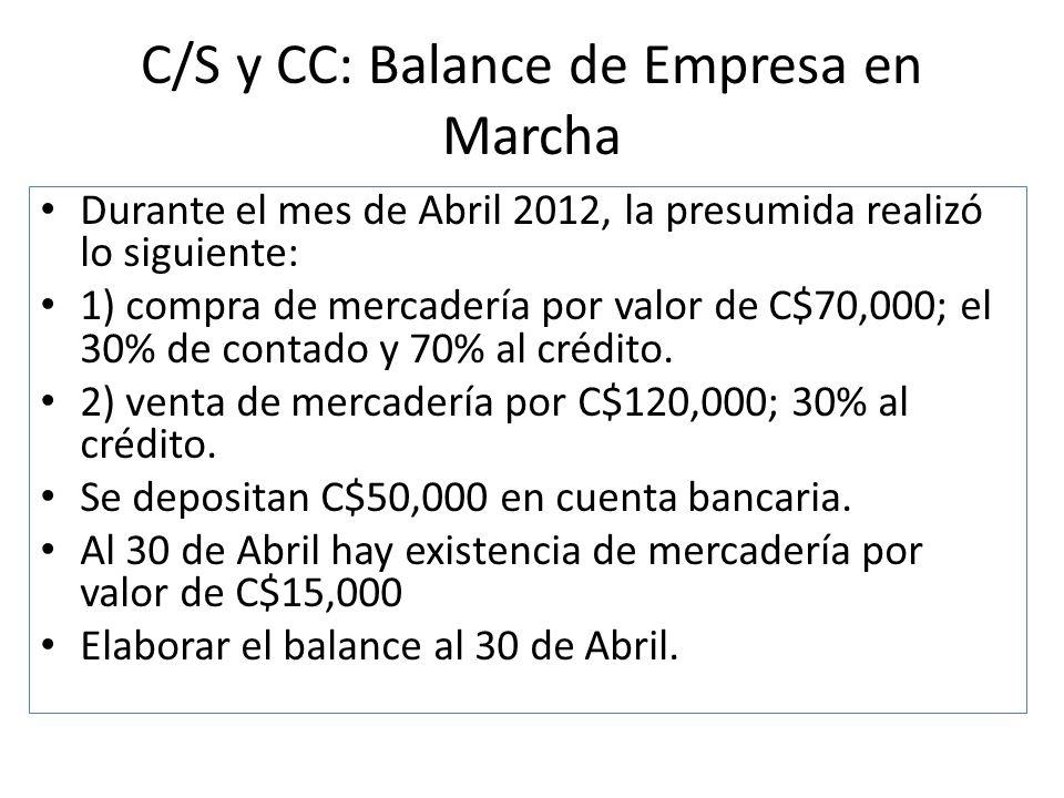 C/S y CC: Balance de Empresa en Marcha