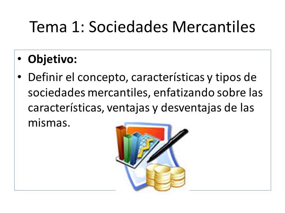 Tema 1: Sociedades Mercantiles