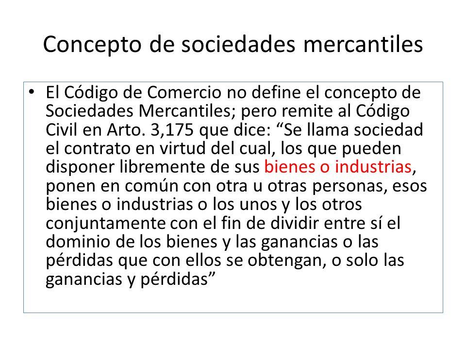 Concepto de sociedades mercantiles