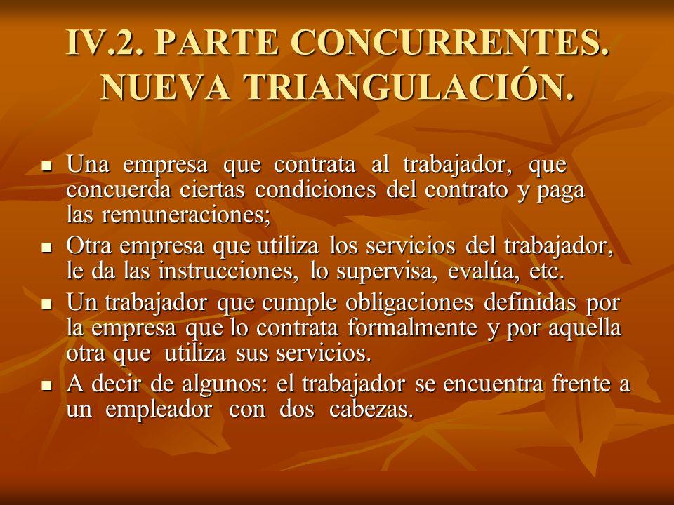 IV.2. PARTE CONCURRENTES. NUEVA TRIANGULACIÓN.