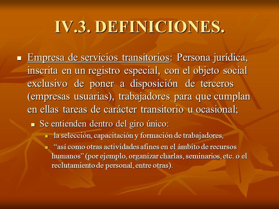IV.3. DEFINICIONES.